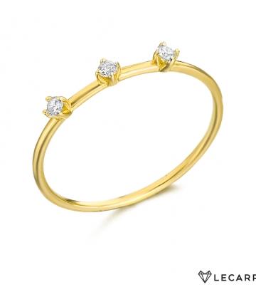 Sortija Le Carré Oro  Diamantes