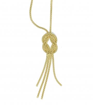 Gargantilla oro malla Tiffany nudo