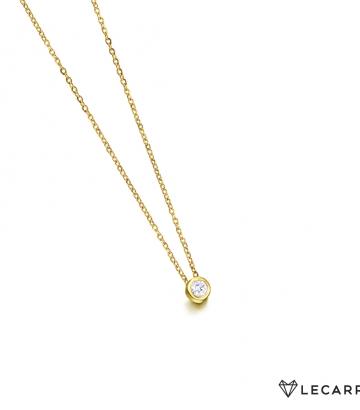 Gargantilla Le Carré Oro Diamante