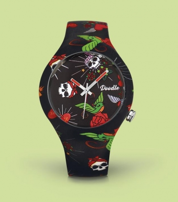 Reloj Doodle Hearts and Roses