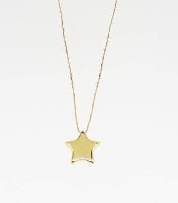 Gargantilla oro 18k con colgante estrella