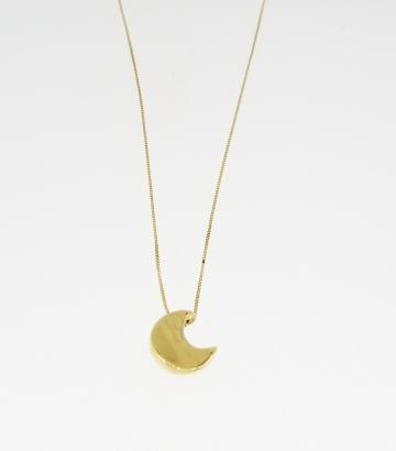 Gargantilla oro 18k con colgante luna