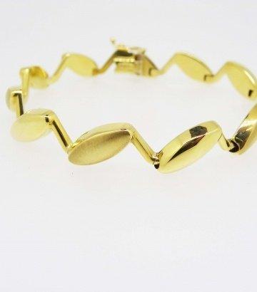 Pulsera oro mate-brillo