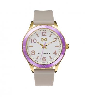 Reloj Acero Ip Dorado Y Aluminio Correa Sra Mm