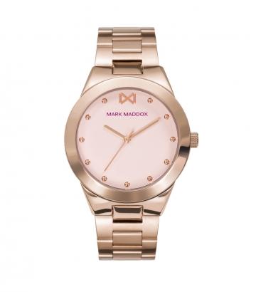 Reloj Acero Ip Rosa Brazalete Sra Mm