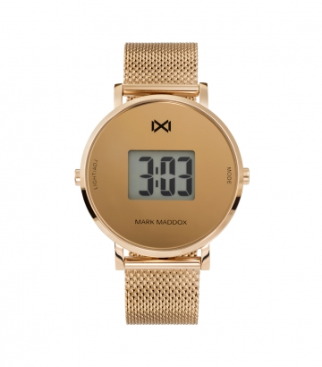 Reloj Digital Acero Ip Rosa Brazalete Sra Mm