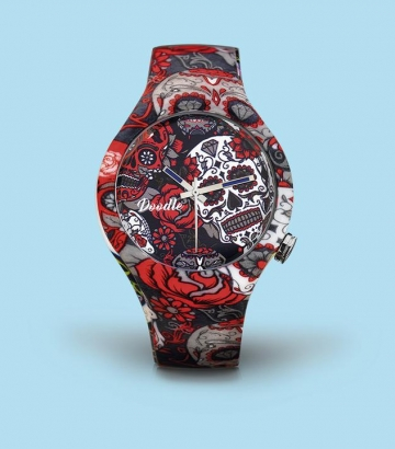 Reloj Doodle Grey Skull