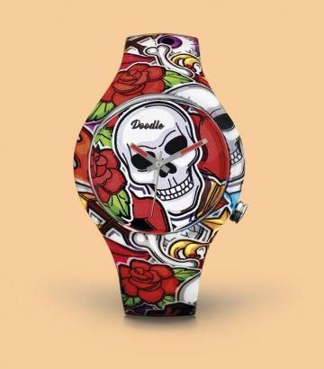 Reloj Doodle Comic Skull