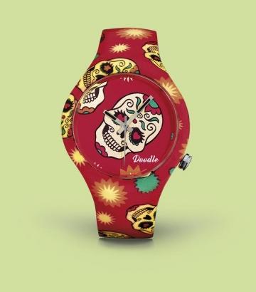 Reloj Doodle Red Skull