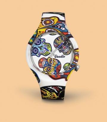 Reloj Doodle White Skull