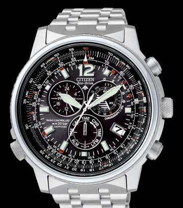 Reloj Citizen Eco-Drive Crono Pilot Acero Radiocontrolado AS4020-52E