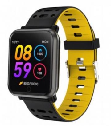 Reloj  Marea Smartband Negro/Amarillo B57002/2