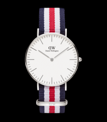 Reloj Daniel Wellington Classic Canterbury 36mm. Silver