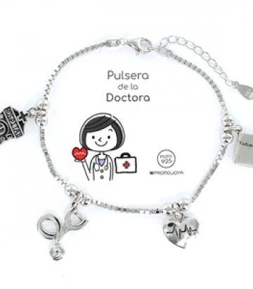 Pulsera Plata Eres lo Más Doctora