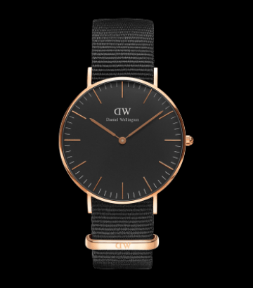 Reloj Daniel Wellington Classic Black Cornwall 36mm.