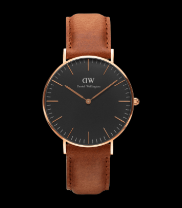Reloj Daniel Wellington Classic Black Durham 36mm