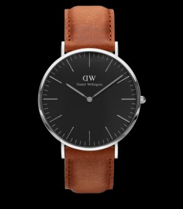 Reloj Daniel Wellington Classic Black Durham 40 mm.