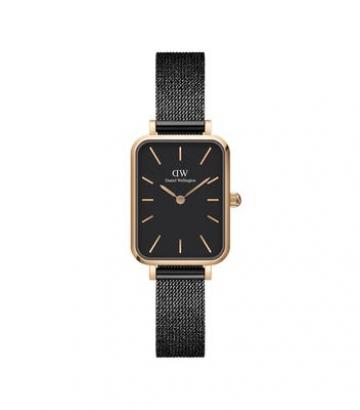 Reloj Daniel Wellington Quadro Pressed Ashfield Negro 20x26mm.