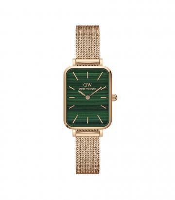 Reloj Daniel Wellington Quadro Pressed Melrose Esfera Verde 20x26mm.