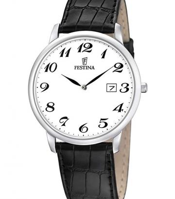 Reloj Festina Acero Extraplano Correa Piel  F6806/5