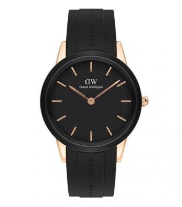 Reloj Daniel Wellington Iconic Motion 40mm. Oro Rosa/Negro 40mm.