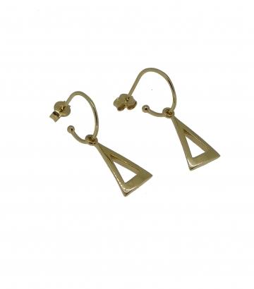 Pendientes oro arito triángulo